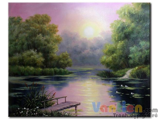 Bình Minh Trên Hồ Nước M1141