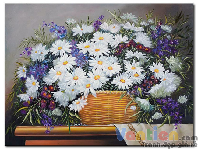 Giỏ Hoa Cúc Trắng M2102