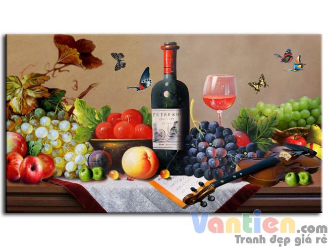 Tĩnh Vật Trái Cây và Rượu Nho M0291