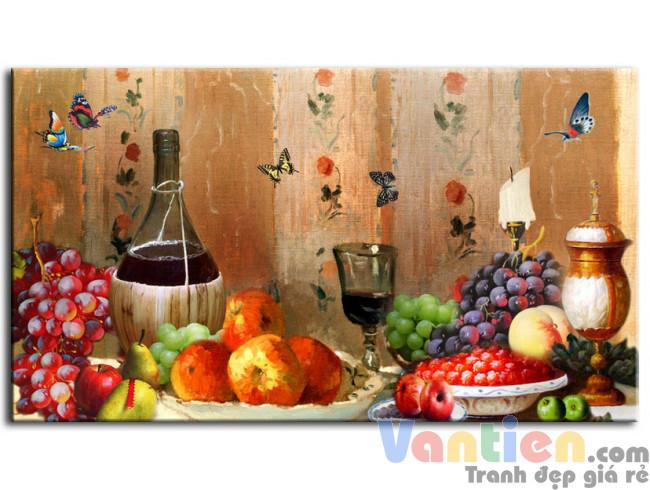 Tĩnh Vật Trái Cây Và Rượu Nho M0297