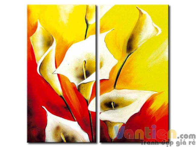 Hoa Rum Tone Màu Đỏ Vàng M0526