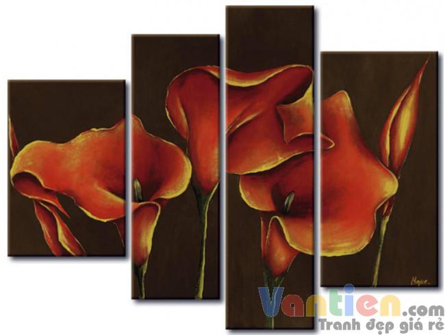 Hoa Rum Tone Màu Nâu Đỏ M0601