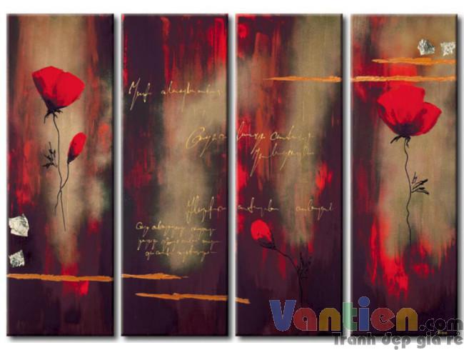 Hoa Poppy Tone Màu Nâu Đỏ M0746