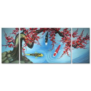 Cá Chép Dưới Bóng Hoa Đào M1574