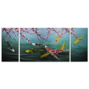Cá Chép Dưới Bóng Hoa Đào M1580