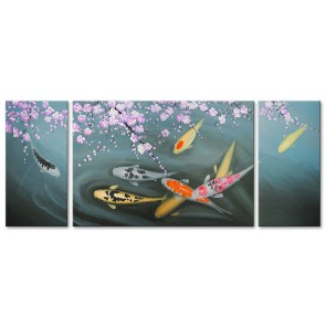 Cá Chép Dưới Bóng Hoa Đào M1582
