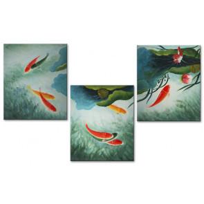 Cá Chép và Hoa Sen M1575