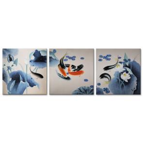 Cá Chép và Hoa Sen M1606