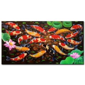 Đàn Cá Chép Trong Ao Sen M2120