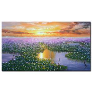 Hoàng Hôn Trên Hồ Sen M2035