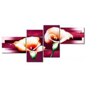 Hoa rum tone màu tím M002