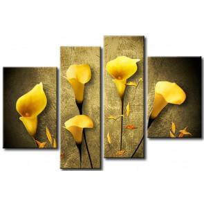 Hoa rum tone màu vàng M024