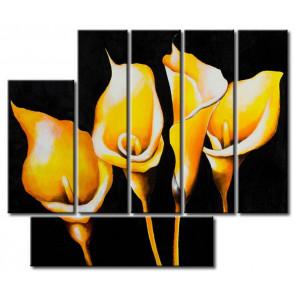 Hoa Rum Tone Màu Vàng Đen M0609