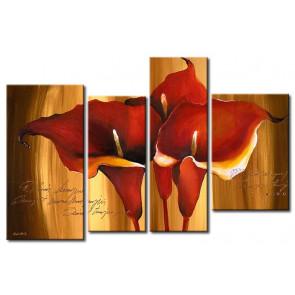Hoa Rum Tone Màu Nâu Đỏ M0620