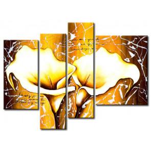 Hoa Rum Tone Màu Nâu Vàng M0622