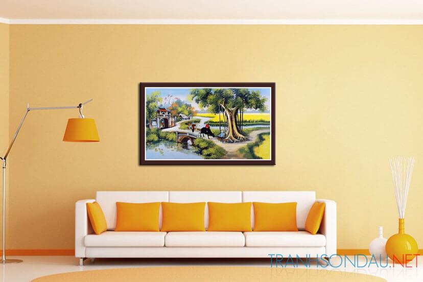 Bí quyết treo tranh sơn dầu cho ngồi nhà của bạn
