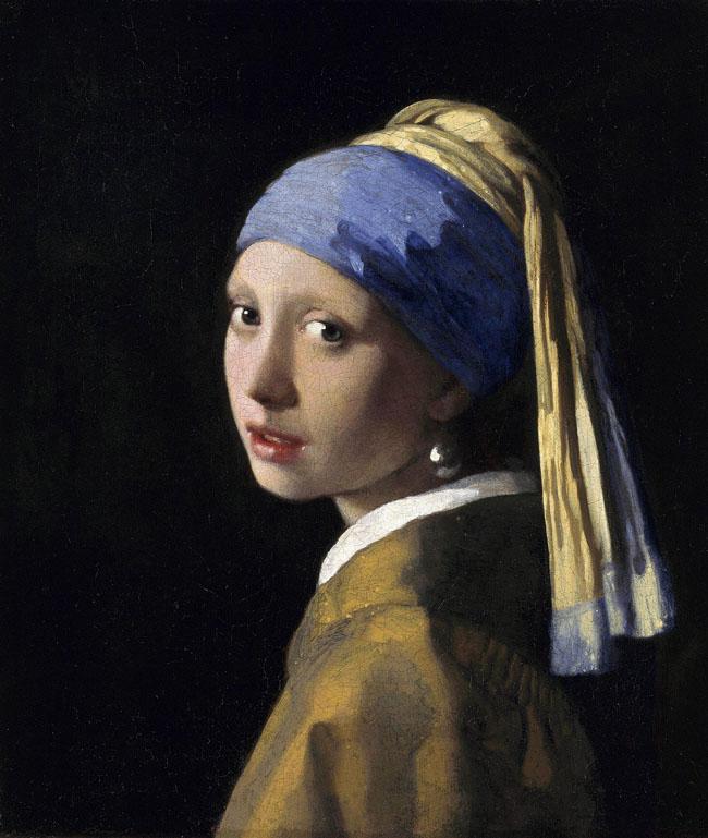 """Bức tranh """"Cô gái với khuyên tai ngọc trai"""" được họa sĩ Johannes Vemeer vẽ vào năm 1665"""