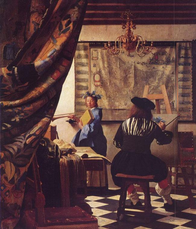 Nghệ thuật hội họa (hay Trong xưởng vẽ) - Johannes Vemeer (1668)