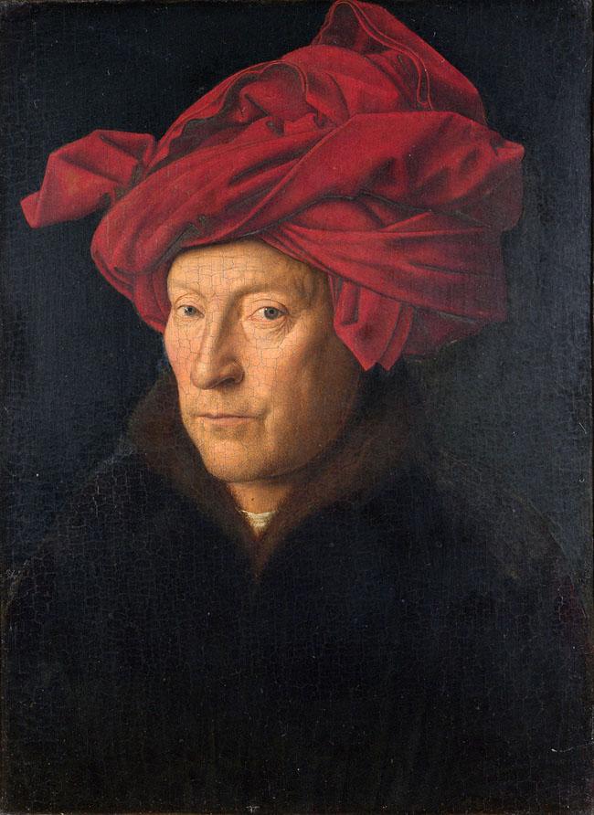 Portrait of a man in a turban (Chân dung người đàn ông với chiếc khăn xếp) - Van Eyck