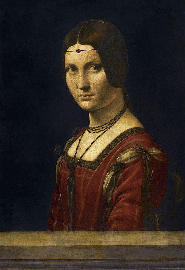 Bức tranh La Belle Ferroniere (Leonardo da Vinci) cũng như các bức tranh sơn dầu lâu đời khác, trải qua sự tàn phá của thời gian đã có những hư hỏng nhất định