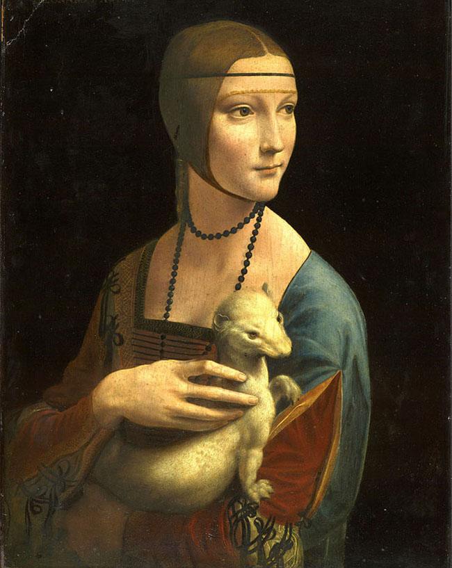 Cô gái và con chồn - Leonardo da Vinci