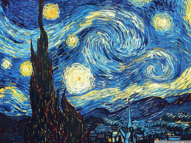 Nét vẽ khỏe khoắn trong Đêm đầy sao - họa sĩ Vincent Vangogh