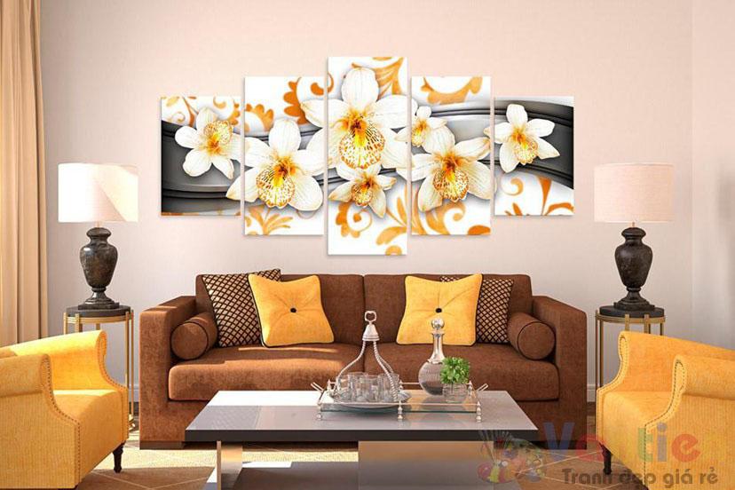 Cách trưng bày tranh treo phòng khách